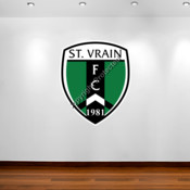 St. Vrain FC logo - Removable Reusable Wall Graphic