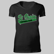 St Vrain Football Club Rhinestone Bling Glitter - Bella Favorite T-Shirt 2