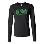 St Vrain Football Club Rhinestone Bling Glitter - Bella Long Sleeve Crew Tee 2